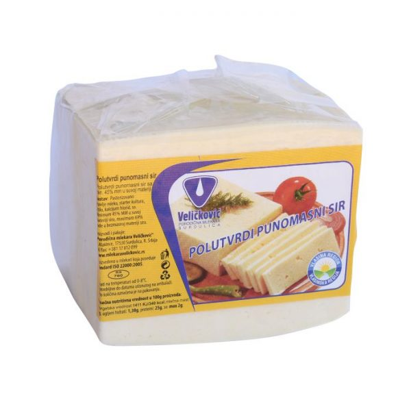 Cheese – semi-hard full fat